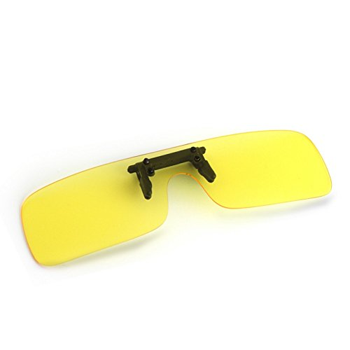 Yellow Lens Night Vision Goggles Sunglasses Driving Riding Sport Glasses UV400 - 1