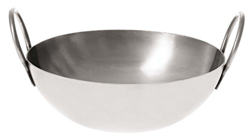 Paderno World Cuisine Stainless Steel Balti Pan, 6-Inch ()