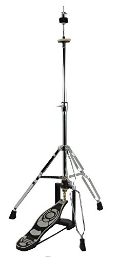 DRUM HIGH HAT CYMBAL STAND - DOUBLE BRACED CHROME NEW!