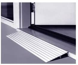 threshold ramp 3 made in usa aluminum threshold ramp for wheelchairs and scooters 600 lb capacity 3 high x 17 long x 34 wide designed for