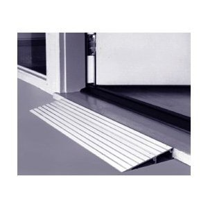 Threshold Ramp 3'' - Made in USA - Aluminum threshold ramp for wheelchairs and scooters. 600 lb capacity. 3'' high X 17'' long X 34'' wide designed for doorways, sliding glass doors, and raised landings. by King Of Canes