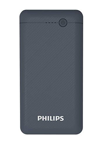 Philips DLP1720CB Fast Charging Power Bank 20000mAh with Lithium Polymer Battery Black(Dual USB Output Port, with Micro… 2021 June 20000mAH lithium Polymer battery 20000mAH lithium Polymer battery, for tablet, mobile phones and other USB charged devices Experience fast charging Charge 2.1A support when charging one device or 5V/2.1A support when charging two devices at once, 1st slot output is 2.1A, 2nd slot output is 1A