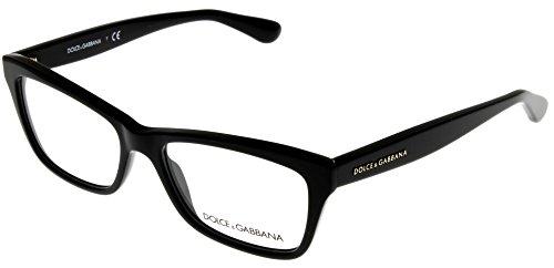 Dolce & Gabbana Women Eyeglasses Designer Black Rectangular DG3215 ()