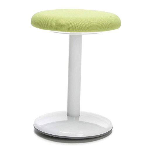 OFM Orbit Active Adjustable Stool - 18'' Tall Fabric Backless Stool, Green (2818-ATV-GRN) by OFM