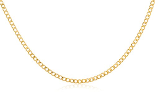 - 14K Yellow Gold 2mm Cuban Chain - 16
