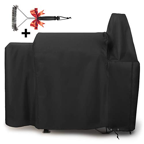 SHINESTAR SS820 Grill Cover for Pit Boss 820 Deluxe Pellet Grill, Heavy Duty and Waterproof Grill Cover Fits for Pit Boss 820D Wood Pellet Grill with Zipper