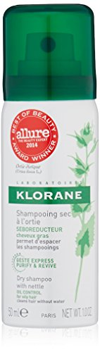 Klorane Dry Shampoo with Nettle - Oily Hair  , 1 oz. (Hair Powder Absorbing Oil)