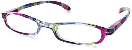 Wink Fancy Slim Blue Stripe Reading Glass with Matching Case, +2.00, 0.200 Ounce Stripe Reading Glasses