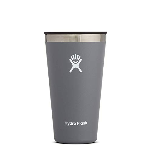 Hydro Flask Tumbler Cup - Stainless Steel & Vacuum Insulated - Press-In Lid - 16 oz, Stone