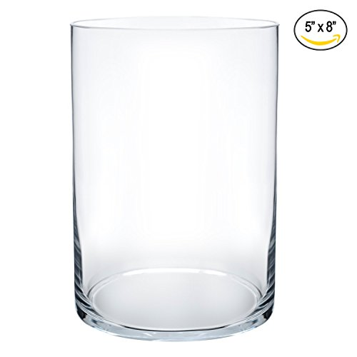 Glass Vase Decorative Centerpiece For Home or Wedding by Cylinder Shape, 8