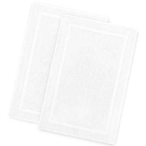 Cotton Craft – 2 Pack Luxury Bath Mat – White – 100% Ringspun Cotton – Oversized 21×34 – Heavy Weight 1000 Grams – 2 Ply Construction – Highly Absorbent – Soft Underfoot Easy Care Machine Wash