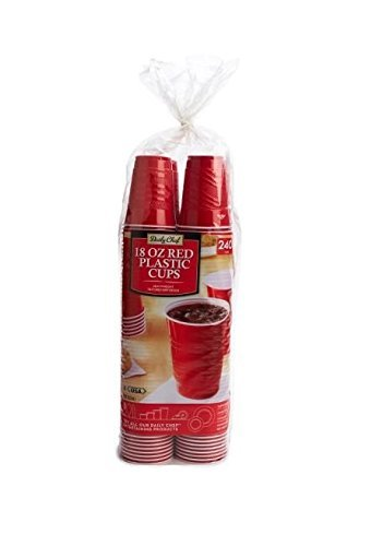 Daily Chef Red Plastic Cups, 240 Count by Daily Chef