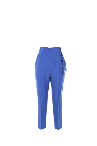 Pantalone Donna Elisabetta Franchi 46 Azzurro Pa9583236 Primavera Estate 2017