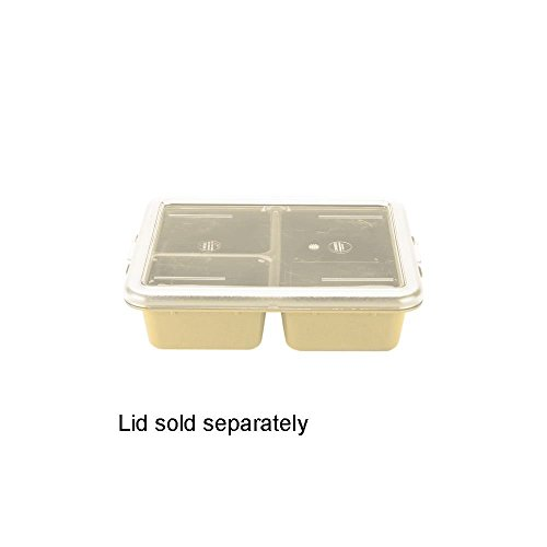 Cambro 9113CW133 Beige 3-Compartment Poly Meal Delivery Tray - 24 / - Compartments Delivery Tray Meal 3
