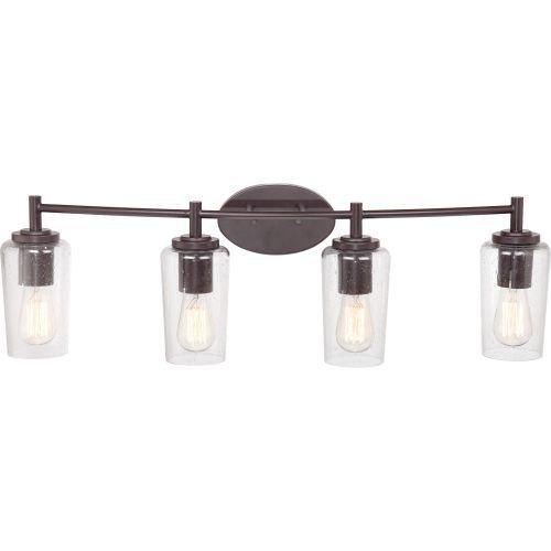 Quoizel EDS8604WT Edison 4-Light Bath Light, Western Bronze ()