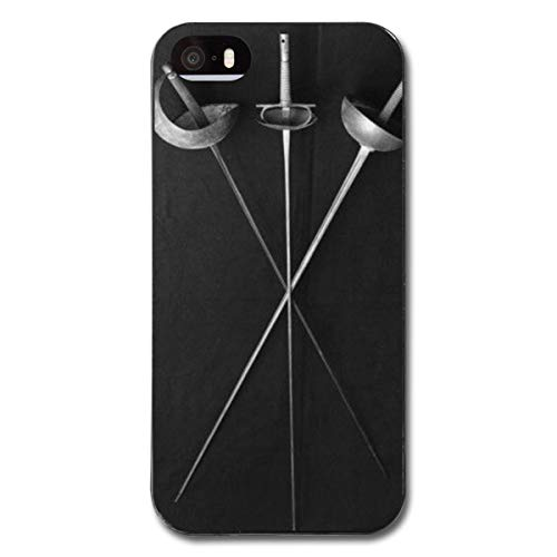- Tfoibp Case for iPhone 5S - Fencing Weapons Flexible Cover Protector Compatible Replacement for iPhone 5/5s/SE