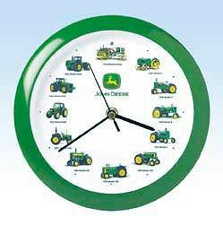 John Deere 8 Inch Tractor Clock w/ Original Recorded Sounds
