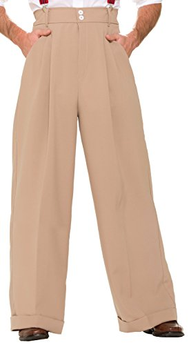 Forum Novelties Men's Roaring 20's Deluxe Pants, Beige, One Size -