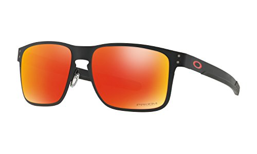 Oakley Holbrook Metal Sunglasses Matte Black with Prizm Ruby Lens + - Holbrook Oakley Colors
