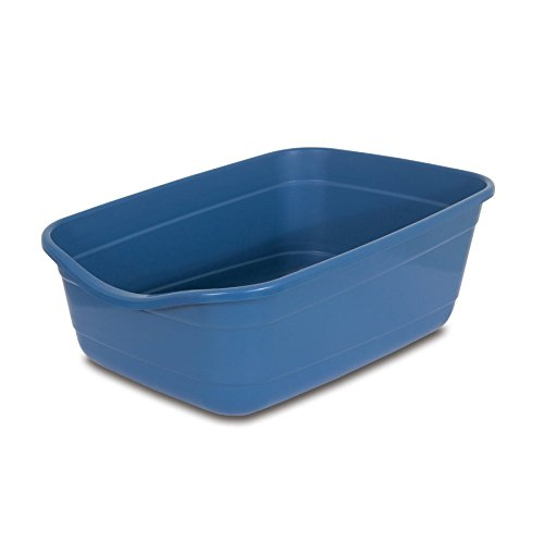 (Petmate Giant Litter Pan High-Capacity Cat Litter Box Blue Mesa Color)