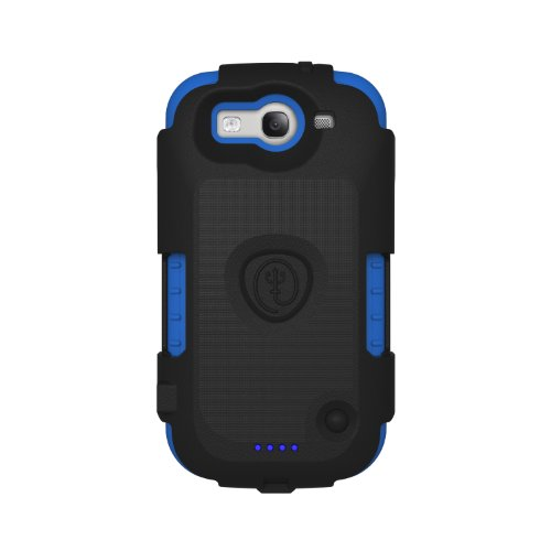Trident Build Your Own Electra Charging Case for Galaxy S III i9300/SCH-1535/SPH-L710/SGH-T999 - Retail Packaging - Black/Blue