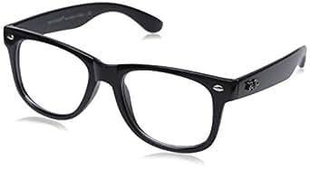 New OG Vintage Buddy NERD Wayfarer Blues Brothers Clear Sunglasses - Black