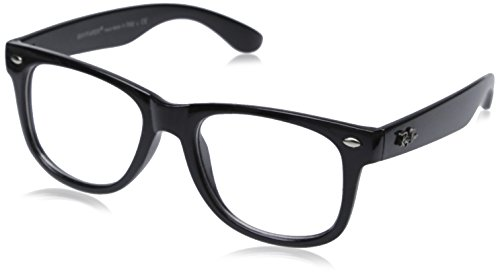 Nerd Glasses Cheap (New OG Vintage Buddy NERD Wayfarer Blues Brothers Clear Sunglasses - Black)