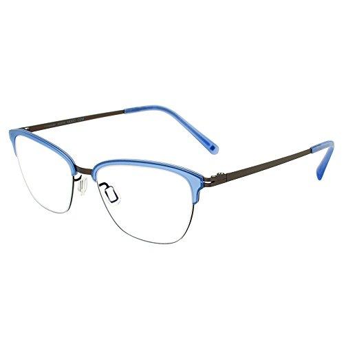 Modo 4060 PURGY Purple Grey Titanium Cat-Eye Eyeglasses 50mm