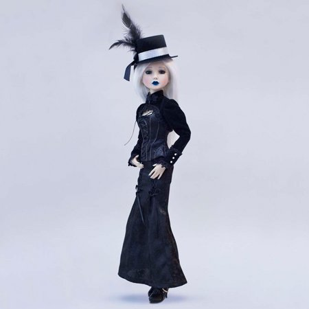 - Bradford Exchange Ashton Drake Delilah Noir Lady Onyx 2010 Doll - Ball Jointed - Limited Edition of 500