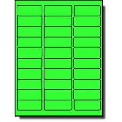 "(600 Label Outfitters 1"" x 2 5/8"" Fluorescent Neon Green Address Labels – 20 Sheets)"
