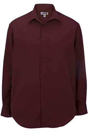 (Edwards Men's Batiste Cafe Shirt Large Tall Burgundy)