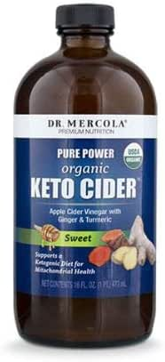 Dr. Mercola Keto Cider - Apple Cider Vinegar - Sweet - 16oz