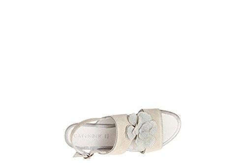 Cafè Noir KHB625 Sandal Zwei Bänder mit Blume 085 GHIACCIO