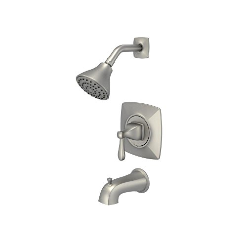 Glacier Bay Milner Pressure Balanced Single-Handle 1-Spray Tub and Shower Faucet in Brushed Nickel