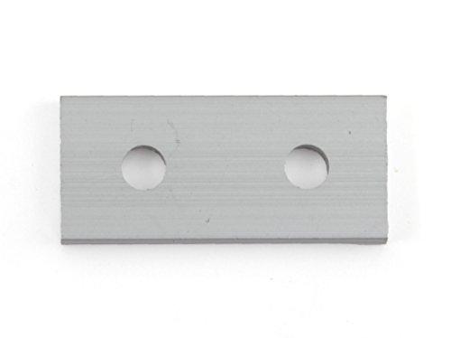 10 Pack of Aluminum 2 Hole Joining Strip for 20mm Aluminum Extrusion