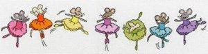 - Row of Sugar Plum Mice - Cross Stitch Kit