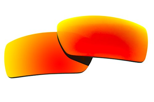 Polarized Replacement Sunglasses Lenses for Oakley Gascan with UV Protection(Fire Red Mirror) by C.D