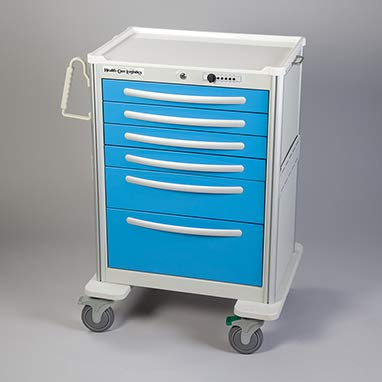 Divine Medical Waterloo Keyless Locking Cart w/Simplex Push-Button Lock