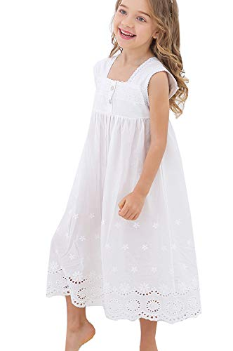 Kids Girls' Princess Nightgown Lace Sleeveless Full Length Dress 3-13 Years Off -