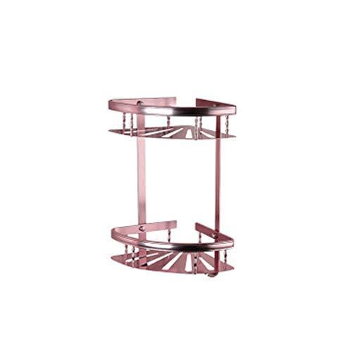 - LJQHS Space Aluminum Free Punch, European Pink Rack, Bathroom Towel Rack, Hardware Pendant Set,-Pink3