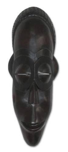 "NOVICA 93224"" Spirit of Wealth Angolan Wood Mask"