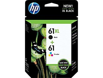 Hp 61xl(black)/61(tri-color) Combo Ink Cartridge, Office Central