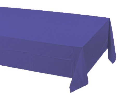 Mardi Gras Table Cover (Creative Converting Touch of Color Plastic Table Cover, 54 by 108-Inch, Purple)