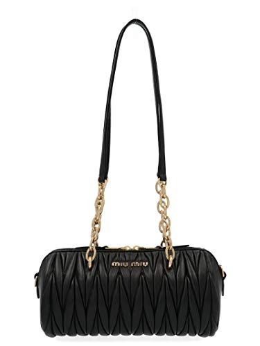 Miu Miu Women's 5Bb058ooon88f0002 Black Leather Handbag ()