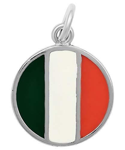 - Raposa Elegance Sterling Silver Ireland Flag Charm (approximately 12.5 mm x 12.5 mm)