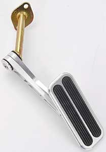 Chevy Chevelle Pedal Car - Lokar BAG6129 Billet Throttle Pedal with Rubber for Chevy Chevelle