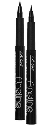 L.A. Girl Fineline Long Lasting Fine Tip Liquid Eye Liner - Pack of 2