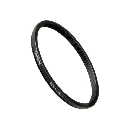Fotodiox Metal Step Down Ring Filter Adapter, Anodized Black Aluminum 82mm-77mm, 82-77 mm (Fotodiox Metal Step)