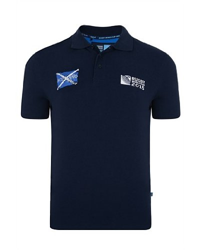 RWC 2015 Men's Scotland Polo XX-Large Navy