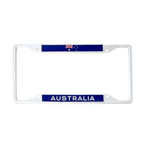 Australia Flag License Plate - Desert Cactus Country of Australia Flag License Plate Frame for Front Back of Car Vehicle Truck Australian